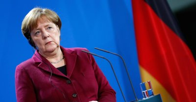 "alt=""Merkel says Europe must take matters into their own hands"""