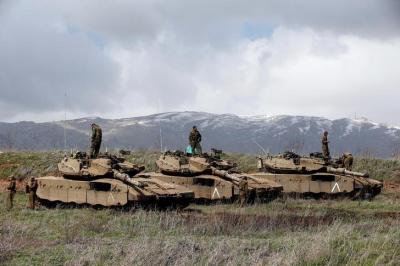 "alt=""Israel attacks Syrian posts after cross-border fire from Syria"""