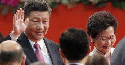 "alt=""China's president tells Hong Kong not to cross 'red line' by challenging Beijing"""