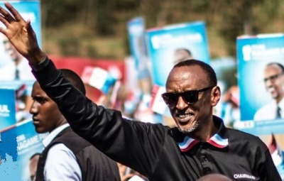 "alt=""Paul Kagame has been re-elected by a landslide as president of Rwanda"""