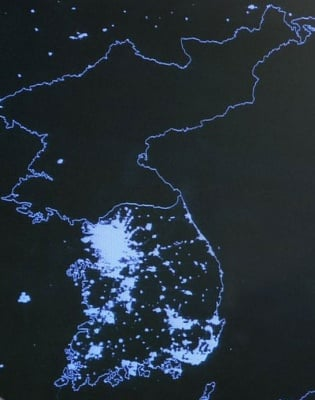 North Korea in the dark