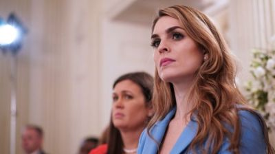 "alt=""Hope Hicks: Close Trump aide and White House communications chief resigns"""