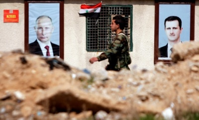 "alt=""Syrian government ground forces attack Ghouta despite Russian truce plan"""