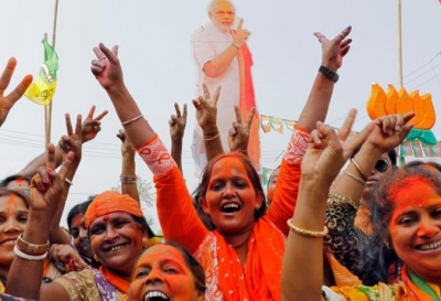 "alt=""India's ruling party emerges stronger after polls in northeast"""