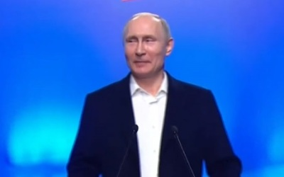 "alt=""Russia election: Vladimir Putin wins by big margin"""