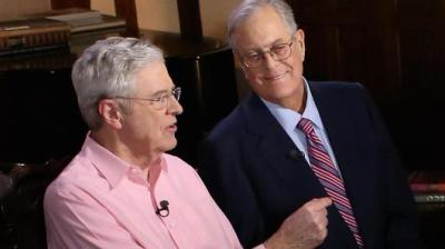 "alt=""Koch brothers network breaks with Trump over brewing trade war with China"""