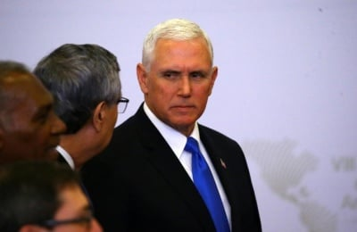 "alt=""In Lima, Vice President Pence says NAFTA deal possible in several weeks"""