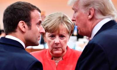 "alt=""Merkel faces tough White House trade talks as Macron a hard act to follow"""