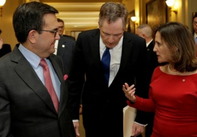 "alt=""NAFTA talks resume amid fears of 'zombie' deal"""
