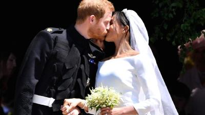 "alt=""A Royal Wedding: Prince Harry marries Meghan Markle at Windsor Castle"""