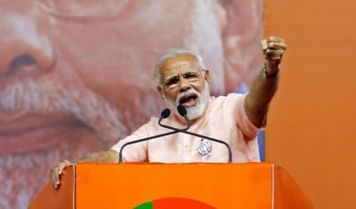 "alt=""As election looms, Modi's popularity wanes in rural India"""