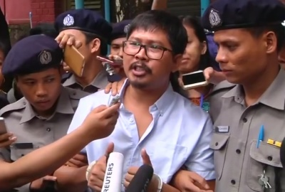 "alt=""Myanmar court files secrets act charges against Reuters reporters"""
