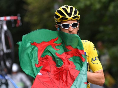 "alt=""Welsh Cyclist Geraint Thomas Wins Tour De France"""