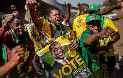 "alt=""Zimbabwe election: Mnangagwa narrowly wins presidential poll"""