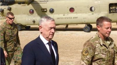 "alt=""Defense Secretary Mattis makes surprise visit to Afghanistan amid multiple attacks"""