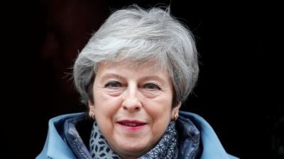 "alt=""Brexit: Theresa May vows to stand down if deal is passed"""