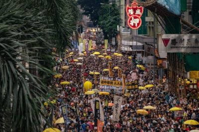 "alt=""Hong Kong: Thousands protest against China extradition law"""