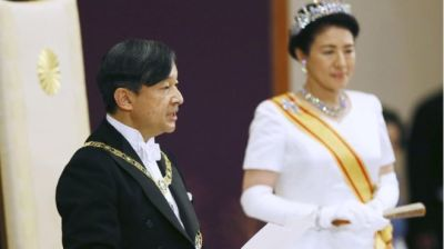 "alt=""Naruhito: Japan's new emperor pledges to be symbol of unity"""
