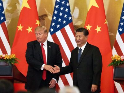 "alt=""Trump tells China to 'act now' on trade or face a 'far worse' deal in his 2nd term"""