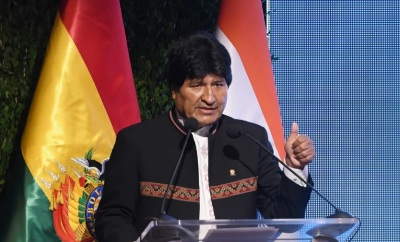"alt=""Bolivia's Morales defies term limits, launches bid for fourth term"""