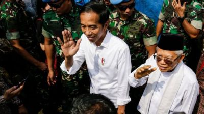 "alt=""Indonesia election: Joko Widodo re-elected as president"""
