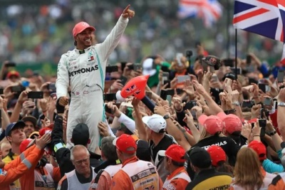 "alt=""Lewis Hamilton says British GP win is greatest moment for any home driver"""