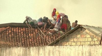 "alt=""Brazil jail riot in Para state leaves 57 dead as gangs fight"""