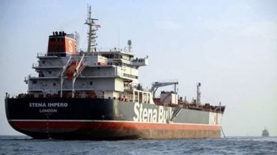 "alt=""Iran 'seizes Iraqi tanker in Gulf for smuggling fuel'"""