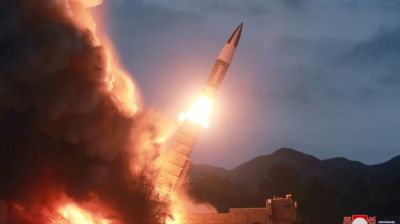 "alt=""South Korea says North Korea has fired more projectiles into sea"""