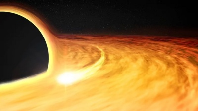 "alt=""Scientists may have detected a black hole devouring a neutron star"""