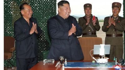 "alt=""North Korea launches two more 'short-range ballistic missiles' into sea"""