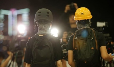 "alt=""Chinese paper says HK demonstrators now have no excuse for violence"""